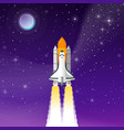 space shuttle take off vector image vector image