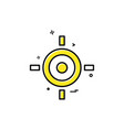 target aim goal icon design vector image