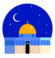 the dome of the rock-qubbet el-sakhra vector image vector image