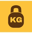 The kilogram icon Kg and weight symbol Flat vector image