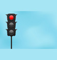 traffic lights with blue sky red lamp on vector image vector image