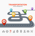 transportation concept card or poster vector image vector image