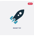 two color rocket toy icon from toys concept vector image