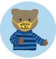 wear a mask - cute bear for kids