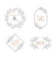 Wedding floral monogram collection modern