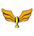 wings trophy icon icon cartoon vector image vector image