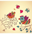 Love birds on the branch vector image