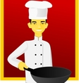 Asian cook vector image