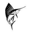 graphic marlin vector image