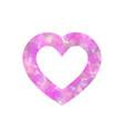 pink heart outline of dot vector image