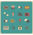 333retro communcation icon vector image vector image