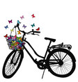abstract of a bicycle silhouette with colored vector image