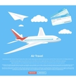Air travel concept flying plane vector image vector image