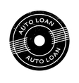 Auto Loan rubber stamp vector image