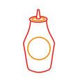 bottle of ketchup sauce ingredient fast food vector image vector image