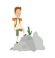 boy scout camping outfit summer camp activities vector image vector image