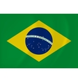 Brazil waving flag vector image