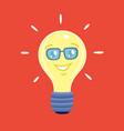 cartoon character bulb vector image vector image