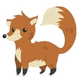 cartoon flat funny fox mascot vector image vector image