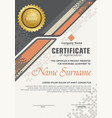 certificate template with halftone modern ornament vector image vector image