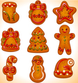 christmas cookie set vector image vector image