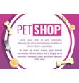 city pet shop concept banner cartoon style vector image vector image