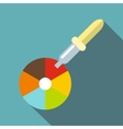 Color picker pipette icon flat style vector image vector image