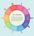 Colorful circle infographic background design vector image vector image