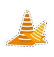 construction cone with stripes cut line vector image vector image