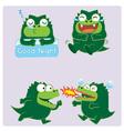 crocodileActing02 vector image vector image