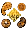 Ethnic ornaments set vector image vector image
