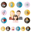 family flat icons vector image