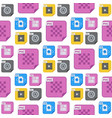 file types and formats seamless pattern background vector image vector image