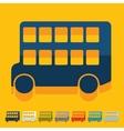 Flat design bus double decker vector image vector image