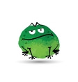 Funny frog Watercolor sketch for your design vector image