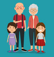 grandparents couple with kids avatars characters vector image vector image