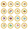 houses cartoon icon circle vector image vector image