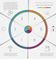 Infographic template on 6 positions vector image vector image
