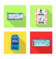 isolated object of ticket and admission icon vector image
