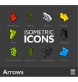 Isometric outline icons set 47 vector image vector image