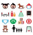 kindergarten nursery preschool children color ic vector image