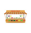 local farm market fruit shop with fresh fruit in vector image vector image