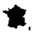 map france vector image vector image