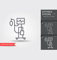 medical ventilator linear medical symbols vector image vector image
