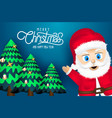 merry chirstmas and happy new year vector image vector image