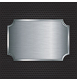 Metal texture plate vector image vector image