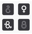 Modern 8 march icons set