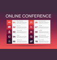 online conference infographic 10 option template vector image vector image