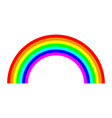 rainbow arc icon vector image