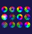 rgb circles round abstract shapes selective vector image